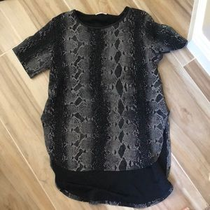 High Low Snake Top